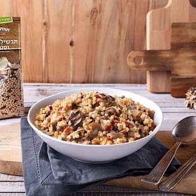 לקט להכנת תבשיל פתיתים ופטריות טעים, ללא חומרים משמרים, צבעי מאכל או חומרי טעם וריח מלאכותיים.