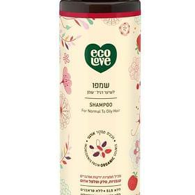 שמפו אדום אורגני לשיער רגיל- שמן EcoLove