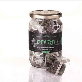 חליטת תה ירוק עבודת יד