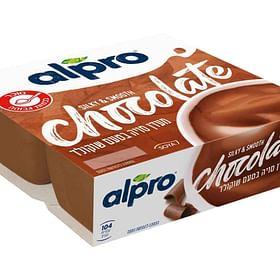 מעדן סויה בטעם שוקולד מעולה! 4 יח' ALPRO